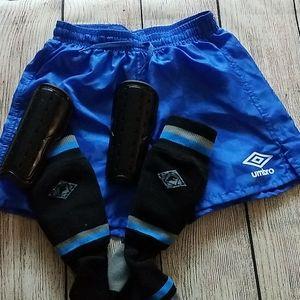 Umbro Shorts xxsmall with xsmall shinguard socks